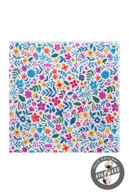 Pánský kapesníček s barevnými květy