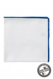 Pánský kapesníček bílý modrý bavlna