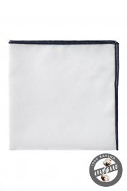 Pánský kapesníček 100% bavlna bílá modrá