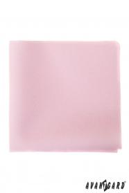 Jemný růžový kapesníček pro pány