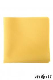 Žlutý pánský kapesníček hořčicové barvy