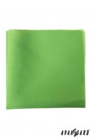 Brčálově zelený pánský kapesníček z polyesteru