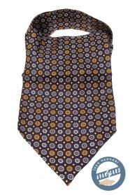 Pánský šátek Askot hedvábný s květinovým vzorem
