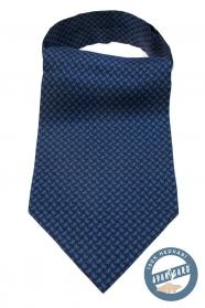 Tmavě modrý hedvábný Askot s Paisley vzorem