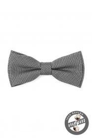 Motýlek PREMIUM bavlněný černo-šedá