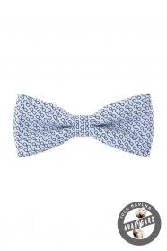 Bílý bavlněný motýlek modré brýle