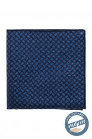 Kapesníček hedvábný Paisley modrý