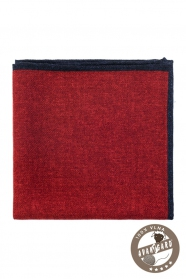 Červený vlněný pánský kapesníček do saka