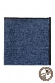Tmavě modrý vlněný vzorovaný kapesníček