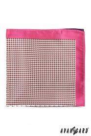 Pánský kapesníček s růžovým okrajem a kohoutí stopou