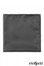 Černý pánský kapesníček Bílé puntíky
