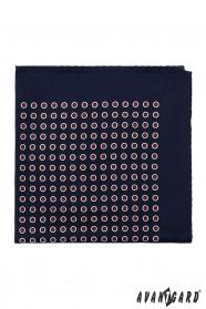 Kapesníček tmavomodrý červené puntíky