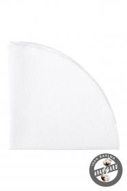 Bílý bavlněný kapesníček jemná struktura