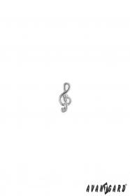 Špendlík do klopy saka - houslový klíč