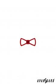 Špendlík do klopy saka - červený motýlek