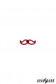 Špendlík do klopy saka - červený knír
