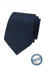 Modrá strukturovaná hedvábná kravata v dárkové krabičce