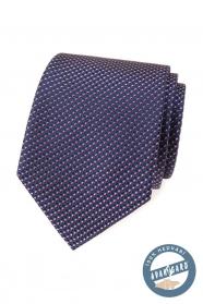 Hedvábná kravata s modro-červeným vzorem