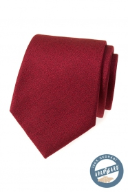 Hedvábná kravata v bordó