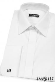 Pánská košile MK s krytou légou - V1-Bílá