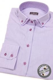 Dámská košile lila s dlouhým rukávem