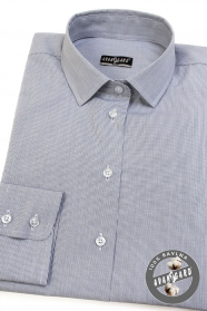 Dámská košile v šedé dlouhý rukáv