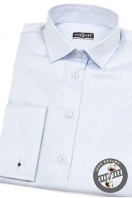 Bleděmodrá dámská košile na manžetové knoflíčky