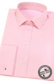 Růžová dámská košile na manžetové knoflíčky