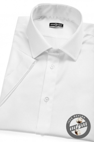 Pánská košile SLIM s krátkým rukávem bílá