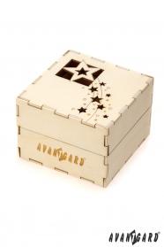 Dřevěná dárková krabička Vánoce