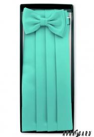 Smokingový pás s motýlkem a kapesníčkem v barvě máty