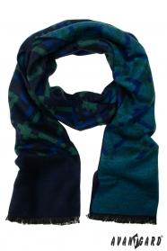 Modro-zelená společenská šála