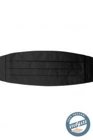 Hedvábný černý pánský smokingový pás
