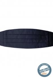 Pánský hedvábný smokingový pás v tmavěmodré