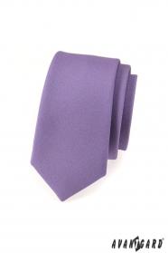 Úzká kravata SLIM  Fialová mat