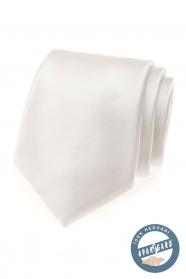 Jemně smetanová hedvábná kravata v dárkové krabičce
