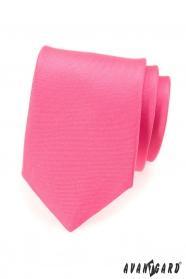 Matná kravata v růžové
