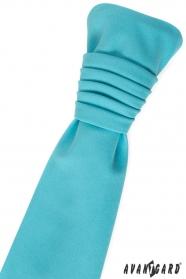 Svatební kravata tyrkysová matná