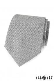 Šedá pánská kravata se strukturou