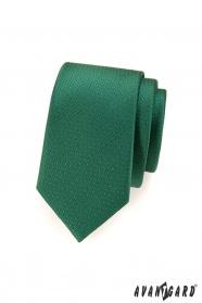 Zelená tečkovaná slim kravata