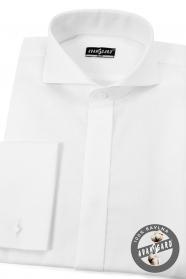 Pánská fraková košile SLIM bavlněná Bílá