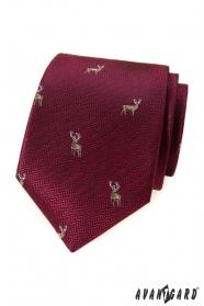 Bordó kravata s jelenem