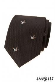 Hnědá kravata vzor Kachna