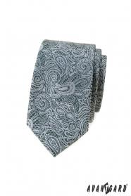 Slim kravata s paisley vzorem