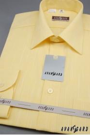 Pánská košile  s dlouhý rukáv 4271-žlutá