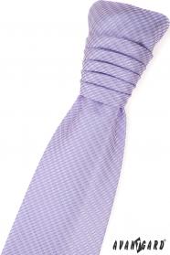 Lila svatební kravata s jemným vzorem