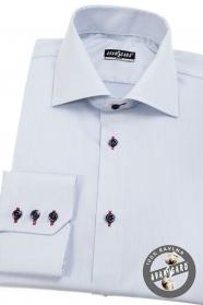 Bledě modrá pánská košile slim s barevnými doplňky