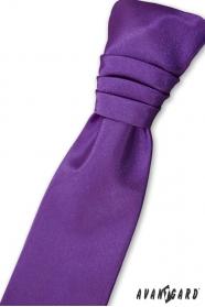 Fialová francouzská kravata chlapecká + kapesníček