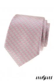 Pánská kravata s růžovým vzorem