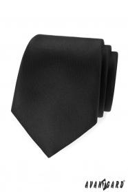 Černá, matná kravata Avantgard